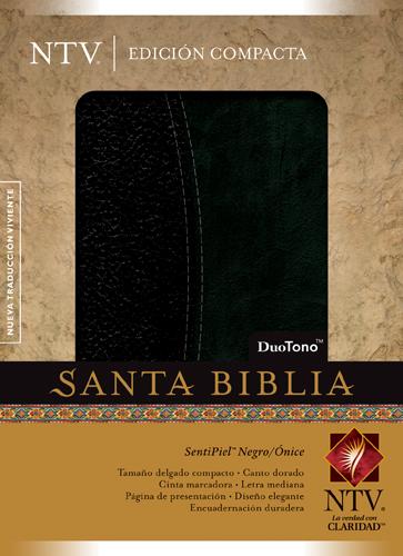Biblia Compacta NTV Piel DuoTono Negro/Onix