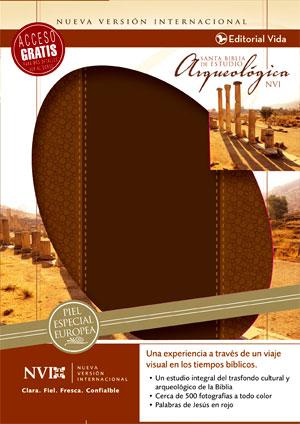 Biblia De Estudio Arqueologica nvi piel italiana cafe claro/cafe
