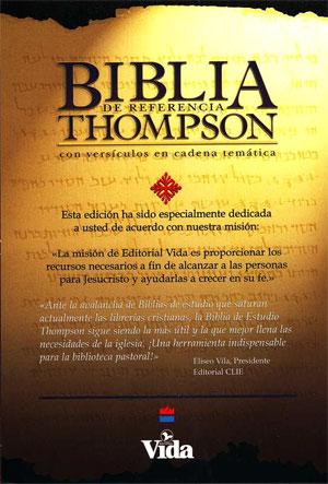 Biblia De Referencia Thompson RVR 1960 tapa dura vino