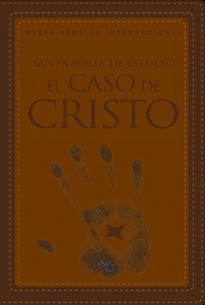 Biblia de Estudio  El Caso de Cristo nvi piel italiana