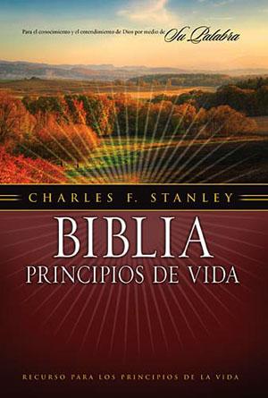 Biblia Principios de Vida Piel Elaborada negra rvr60 - charles s