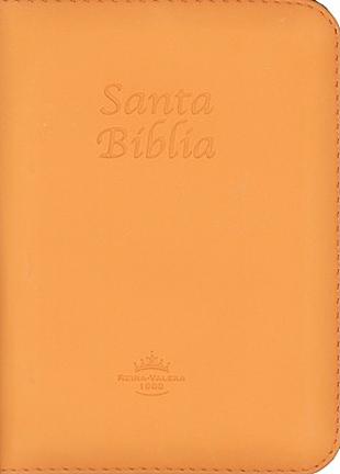 Biblia RVR60 Compacta Imit Piel Naranja cierre