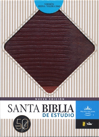 Biblia Estudio RVR 60 Piel Italiana dos tonos