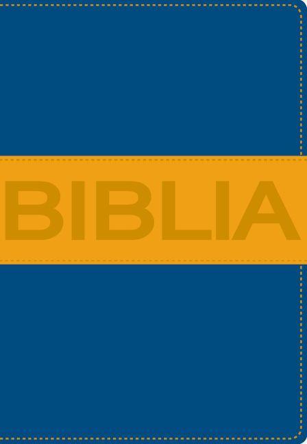Biblia Ultrafina Compacta Collección Contempo Azul / Naranja