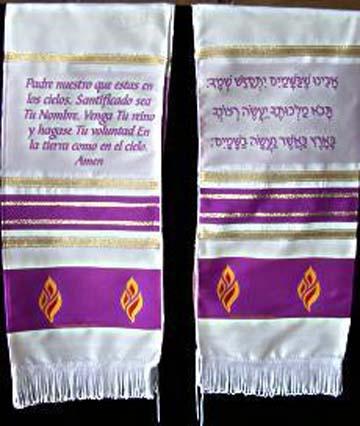 Bufanda de Oracion El Padre Nuestro - purpura