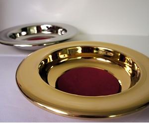 Ofrendero Plateado/Dorado Acero Inox